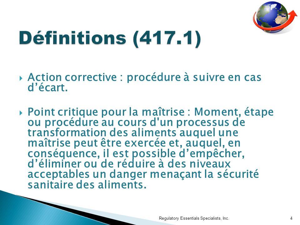 Action corrective : procédure à suivre en cas décart.
