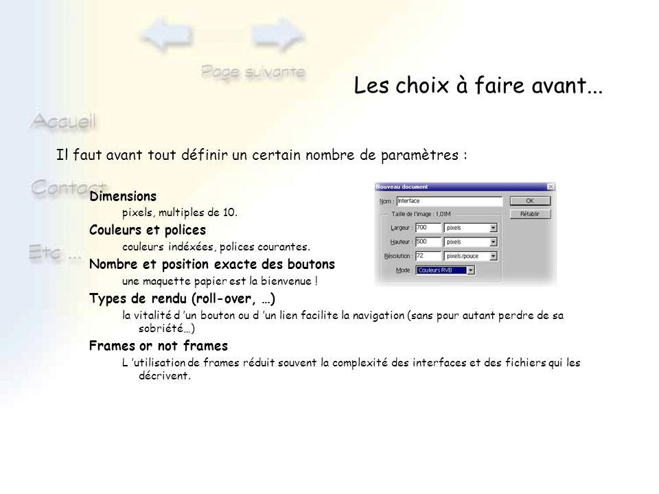 Création du fond Créer le calque fond à partir de : Image en mosaïque créez un calque fond présentant le même résultat que le html en utilisant les motifs de Photoshop (menu Édition - utiliser comme motif / Édition - remplir).
