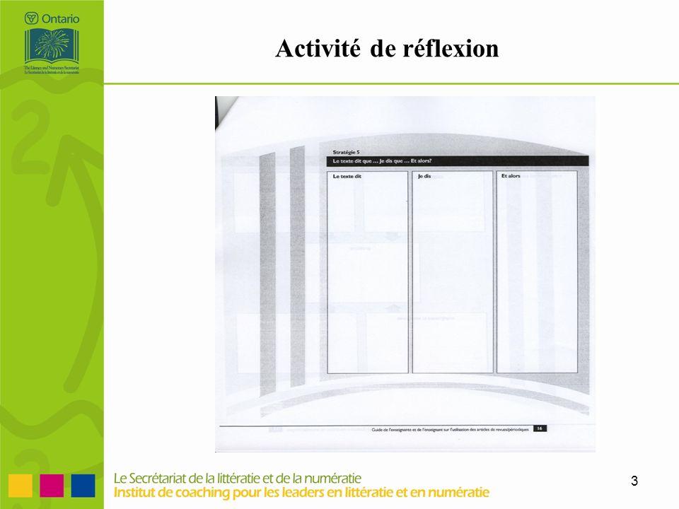 3 Activité de réflexion