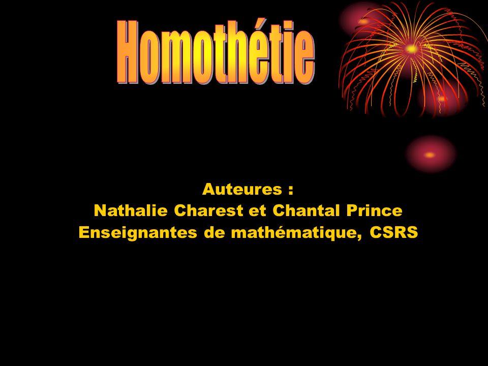 Une homothétie est une transformation géométrique qui permet de tracer une figure semblable à une figure initiale.
