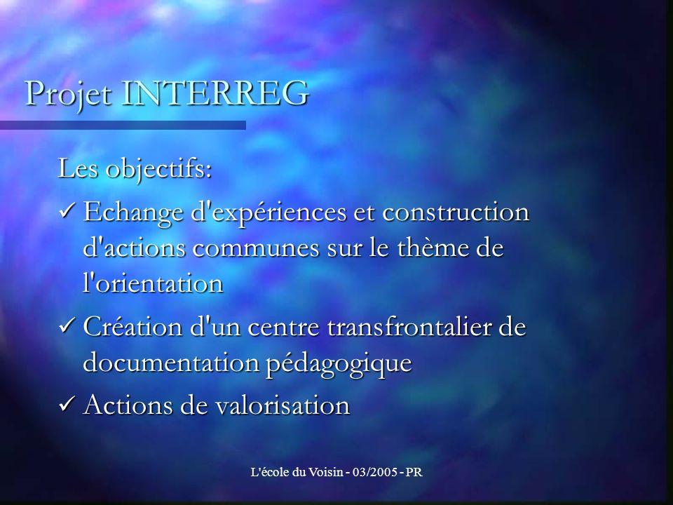 L école du Voisin - 03/2005 - PR Evaluation d un projet Evaluer quoi .