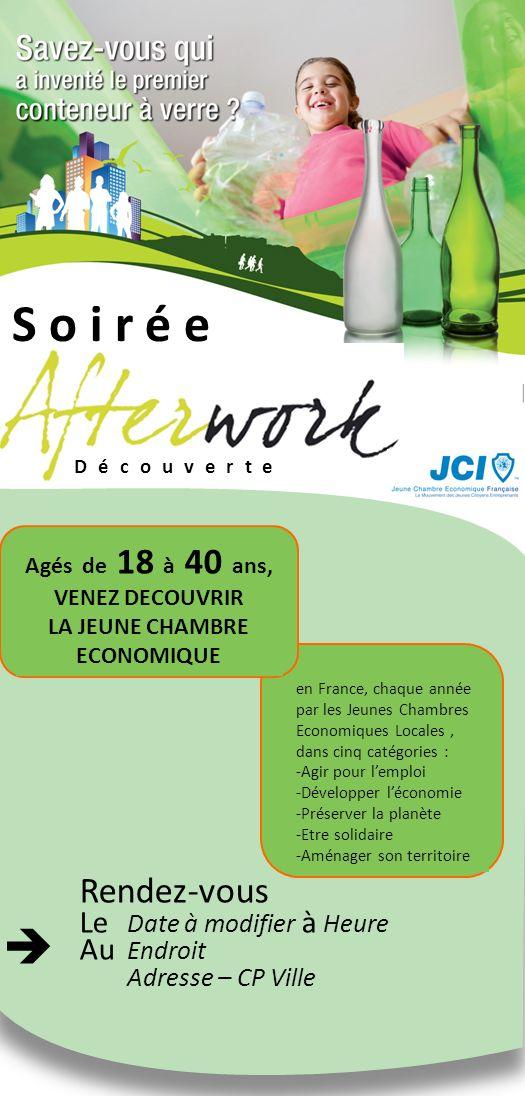Soirée Agés de 18 à 40 ans, VENEZ DECOUVRIR LA JEUNE CHAMBRE ECONOMIQUE en France, chaque année par les Jeunes Chambres Economiques Locales, dans cinq