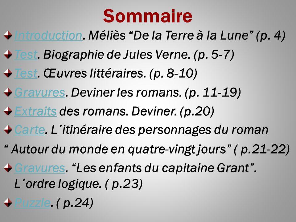 Sommaire IntroductionIntroduction.Méliès De la Terre à la Lune (p.