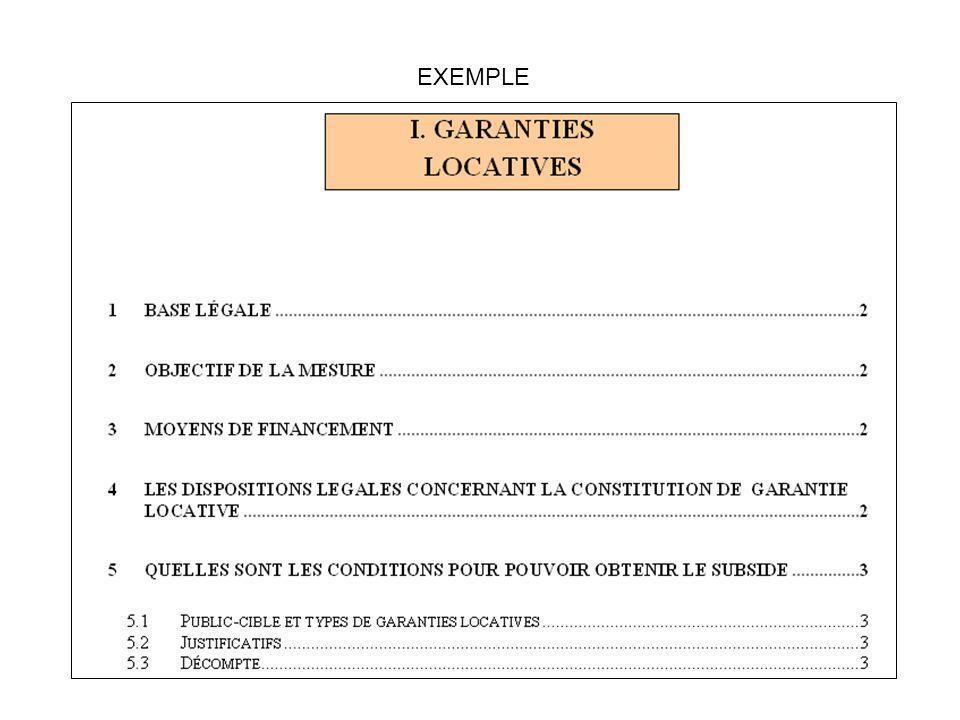 3.Explication de la mesure avec un lien direct avec lécran ad hoc EXEMPLE