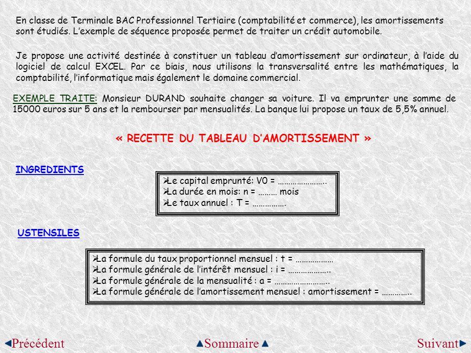 En classe de Terminale BAC Professionnel Tertiaire (comptabilité et commerce), les amortissements sont étudiés. Lexemple de séquence proposée permet d