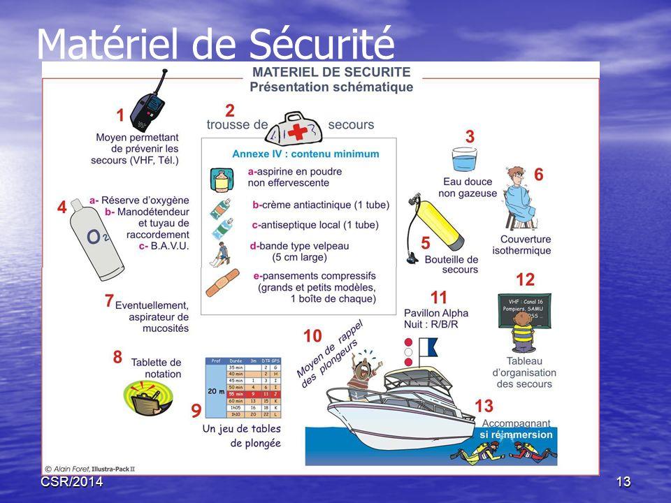 CSR/201413 Matériel de Sécurité