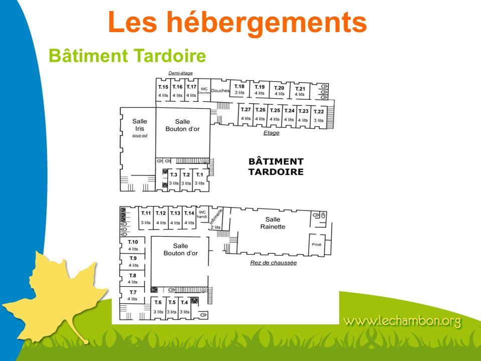 Les hébergements Bâtiment Tardoire
