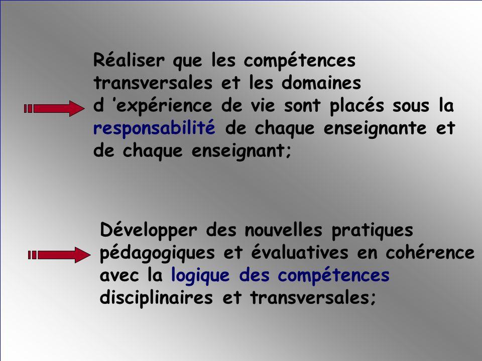 Maîtriser les contraintes du concept de compétence dans son opérationnalisation, tant lors de la planification des situations d apprentissage que lors