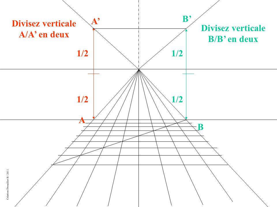 Création Drouillot B / 2011 A B Divisez verticale A/A en deux 1/2 A Divisez verticale B/B en deux B 1/2