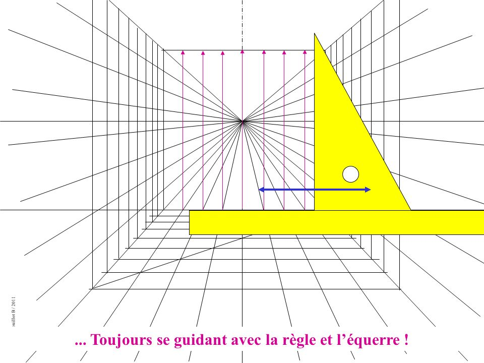 Création Drouillot B / 2011... Toujours se guidant avec la règle et léquerre !