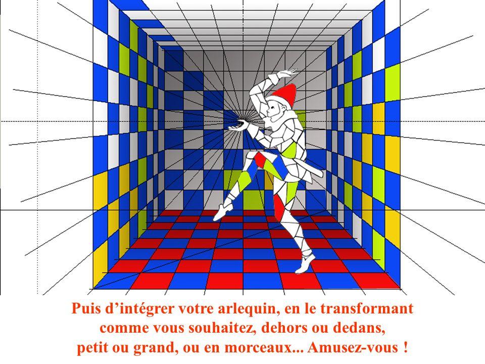 Création Drouillot B / 2011 Puis dintégrer votre arlequin, en le transformant comme vous souhaitez, dehors ou dedans, petit ou grand, ou en morceaux...
