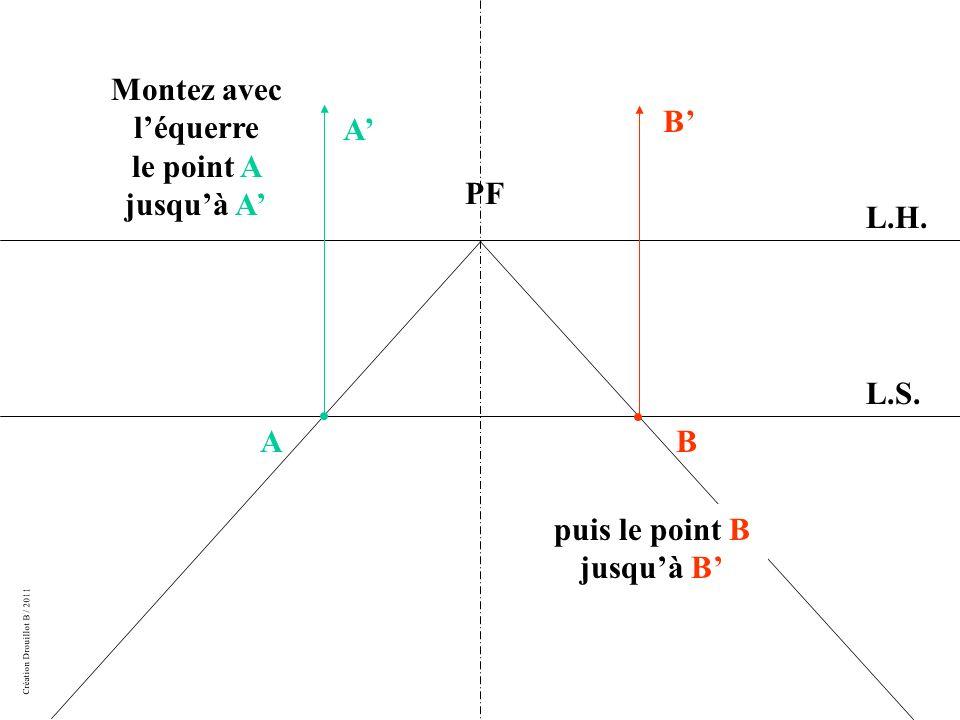 Création Drouillot B / 2011 Montez avec léquerre le point A jusquà A L.H.