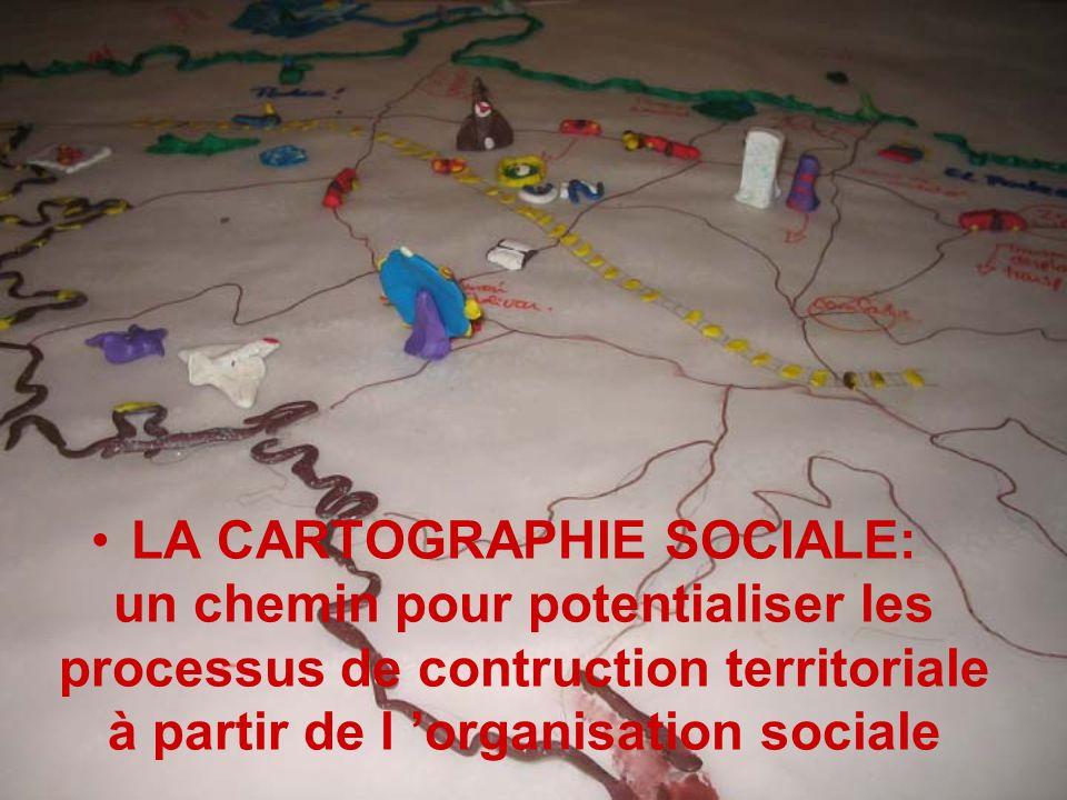 LA CARTOGRAPHIE SOCIALE: un chemin pour potentialiser les processus de contruction territoriale à partir de l organisation sociale