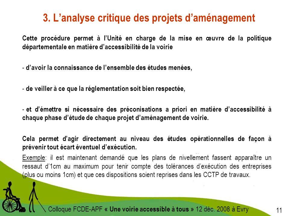 11 Colloque FCDE-APF « Une voirie accessible à tous » 12 déc.