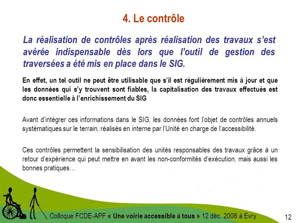 12 Colloque FCDE-APF « Une voirie accessible à tous » 12 déc.