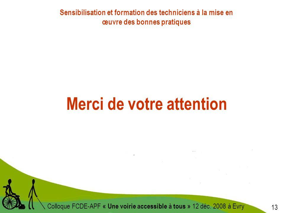 13 Colloque FCDE-APF « Une voirie accessible à tous » 12 déc.