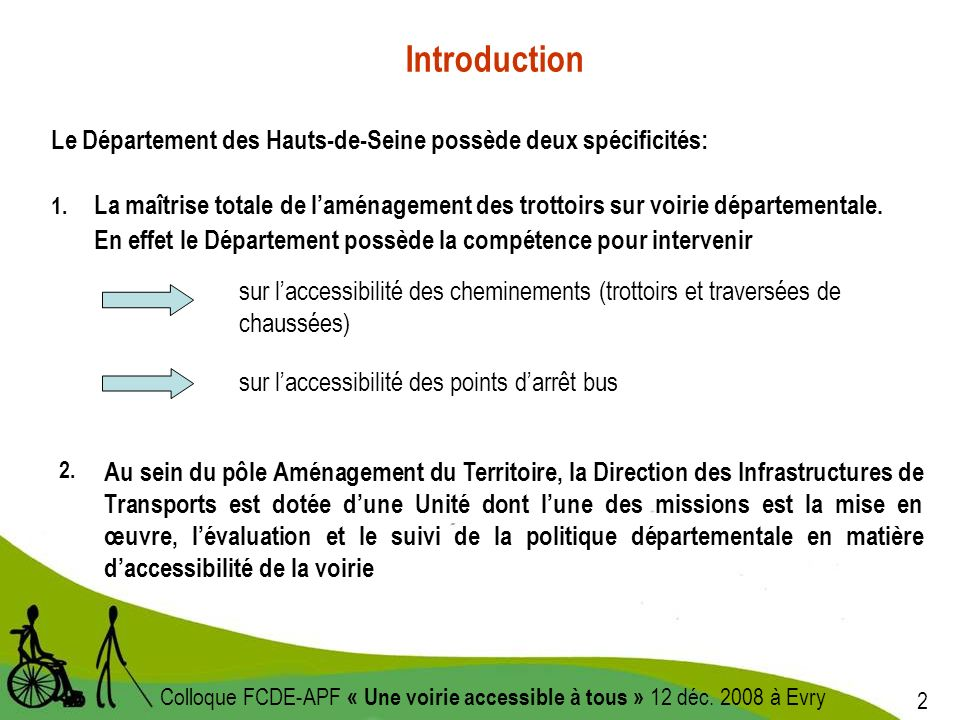 2 Colloque FCDE-APF « Une voirie accessible à tous » 12 déc.