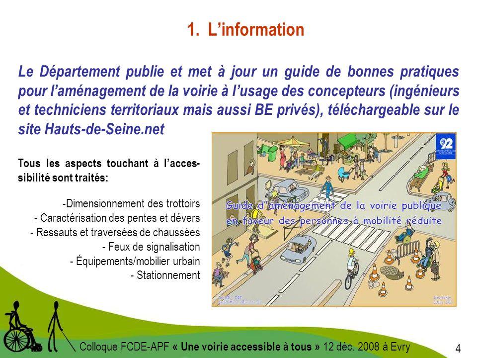 4 Colloque FCDE-APF « Une voirie accessible à tous » 12 déc.