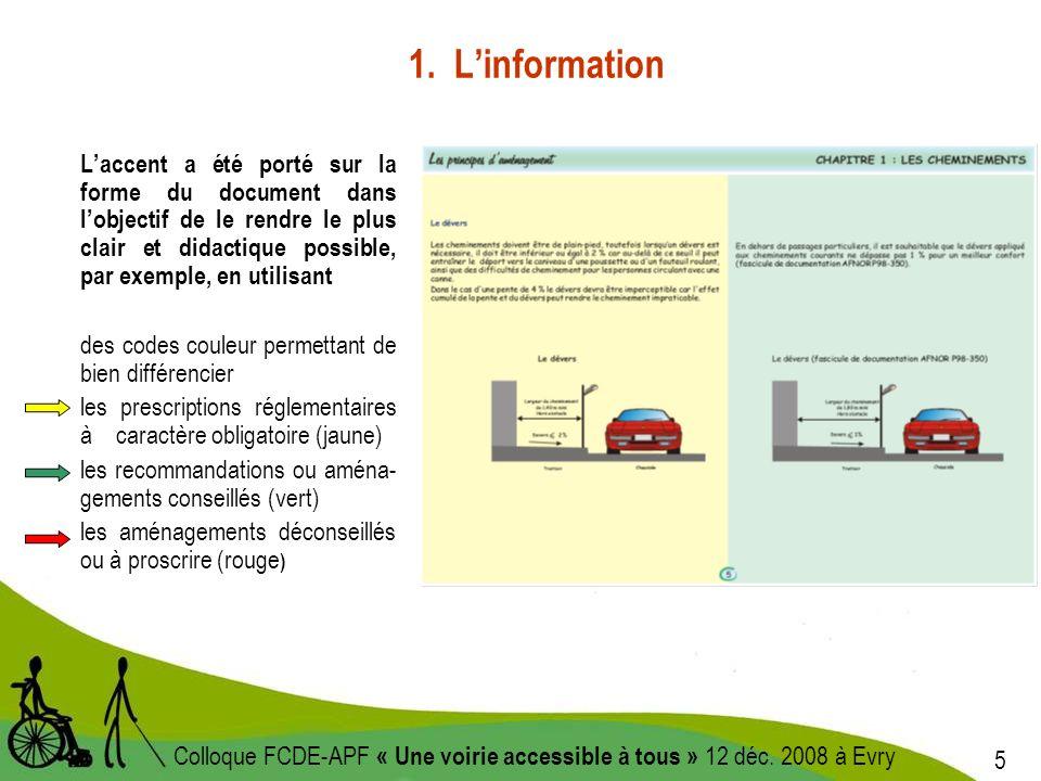 6 Colloque FCDE-APF « Une voirie accessible à tous » 12 déc.