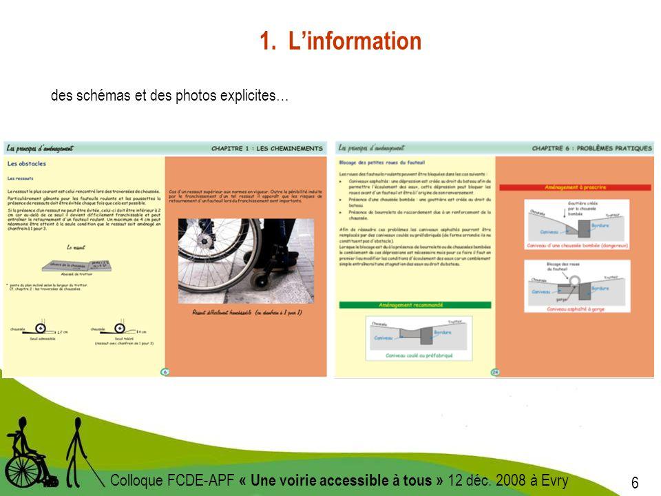 7 Colloque FCDE-APF « Une voirie accessible à tous » 12 déc.