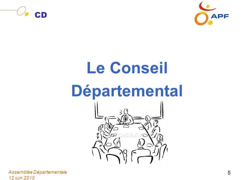 Assemblée Départementale 12 juin 2010 5 CD Le Conseil Départemental