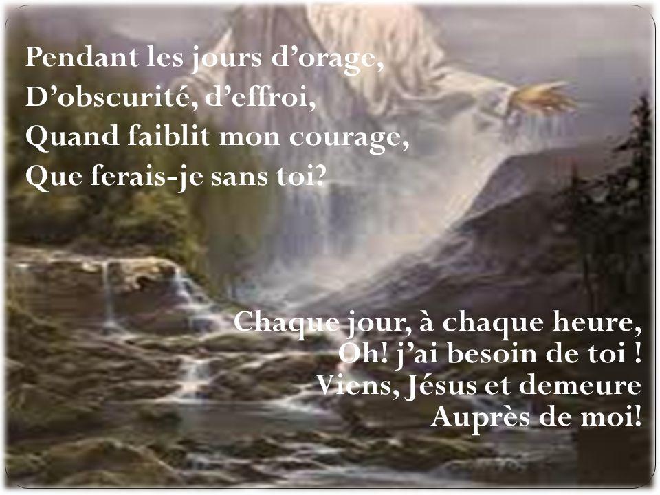O Jésus, ta présence, Cest la vie et la paix La paix dans la souffrance, Et la vie à jamais.