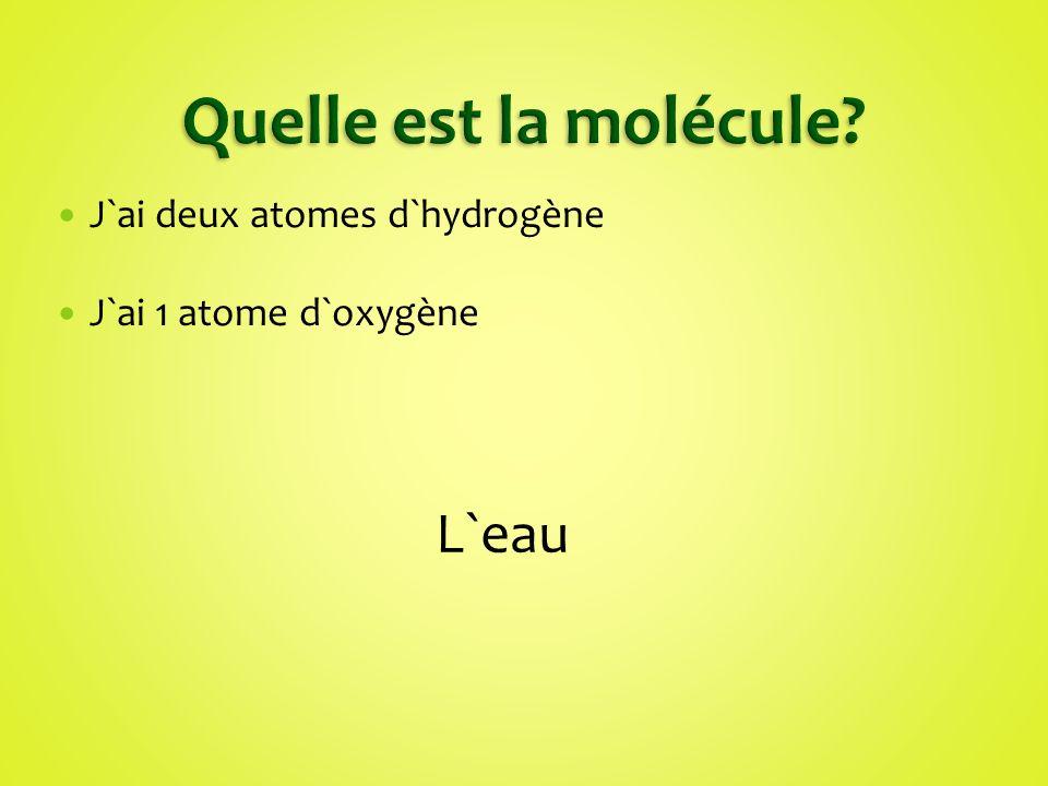J`ai 10 atomes d`hydrogène J`ai 2 atomes d`oxygène J`ai 7 atomes de carbone J`ai 4 atomes d`azote Les personnes me préfèrent les matins Tu peux me trouver dans le Coke et dans le café La Caféine