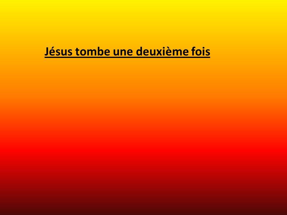Jésus tombe une deuxième fois
