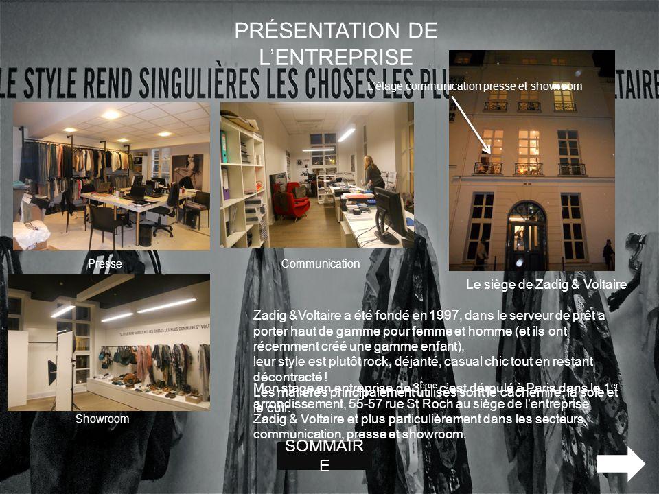 Mon stage en entreprise de 3 ème cest déroulé à Paris dans le 1 er arrondissement, 55-57 rue St Roch au siège de lentreprise Zadig & Voltaire et plus
