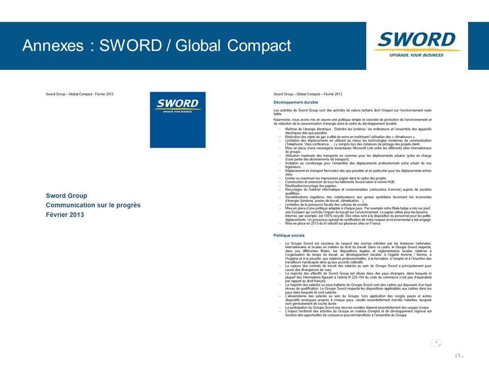 Sword © Sword Group - 11 - Annexes : SWORD / Global Compact