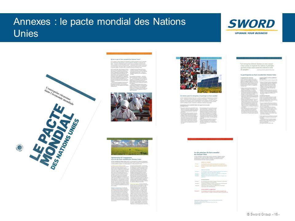 Sword © Sword Group - 15 - Annexes : le pacte mondial des Nations Unies