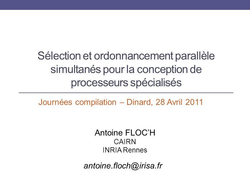 Résultats Antoine FLOCH - CAIRN - INRIA Rennes 41