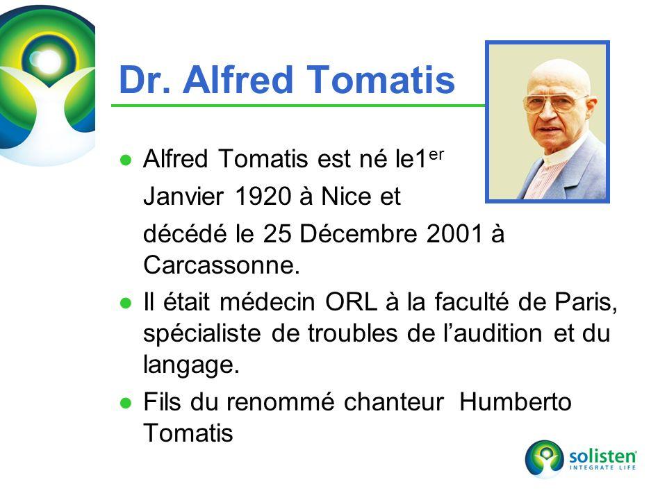 © Solisten LLC., 2009 Dr. Alfred Tomatis Alfred Tomatis est né le1 er Janvier 1920 à Nice et décédé le 25 Décembre 2001 à Carcassonne. Il était médeci