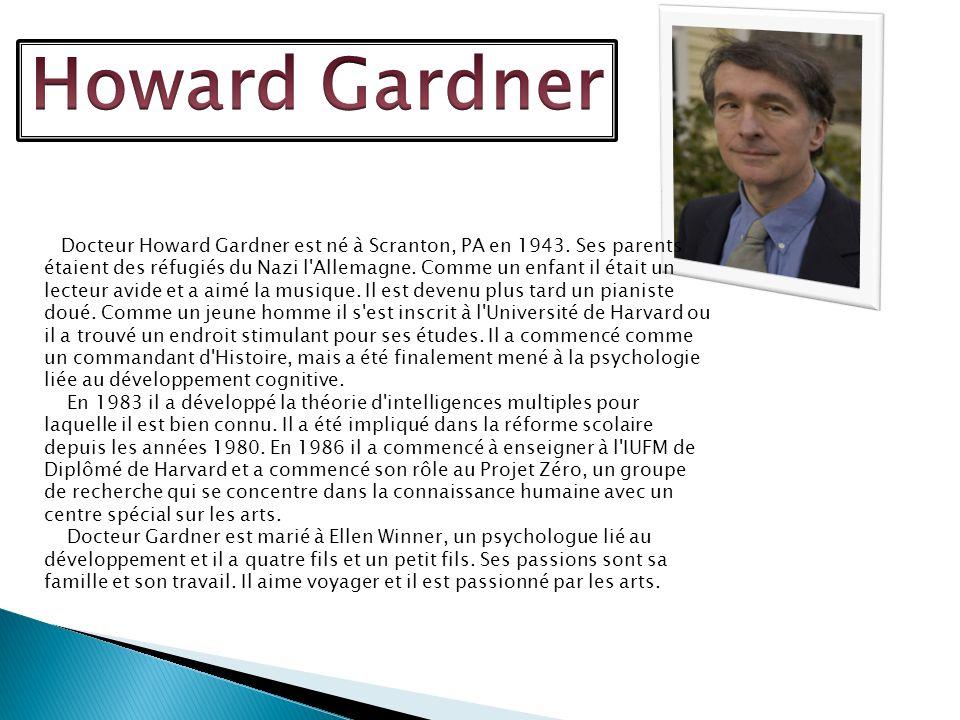 Sa Vision: Comme les humanistes Howard Gardner voit léducation dune personne comme un processus ou lindividu est unique et il apprend de ses forces.