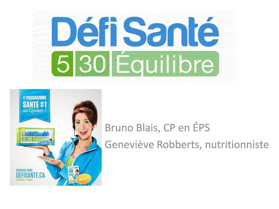 Bruno Blais, CP en ÉPS Geneviève Robberts, nutritionniste