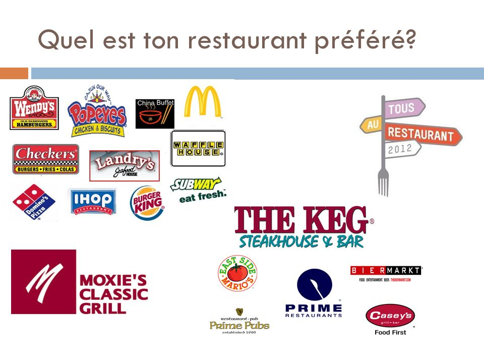 Quel est ton restaurant préféré?
