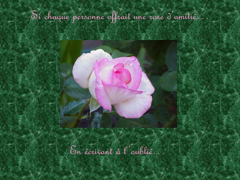 Si chaque personne offrait une rose damitié… En écrivant à loublié…