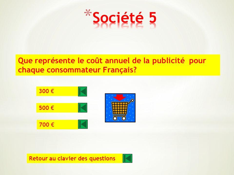 Quelle somme enregistre la Française des jeux chaque semaine? 6 millions 8 millions 10 millions Retour au clavier des questions