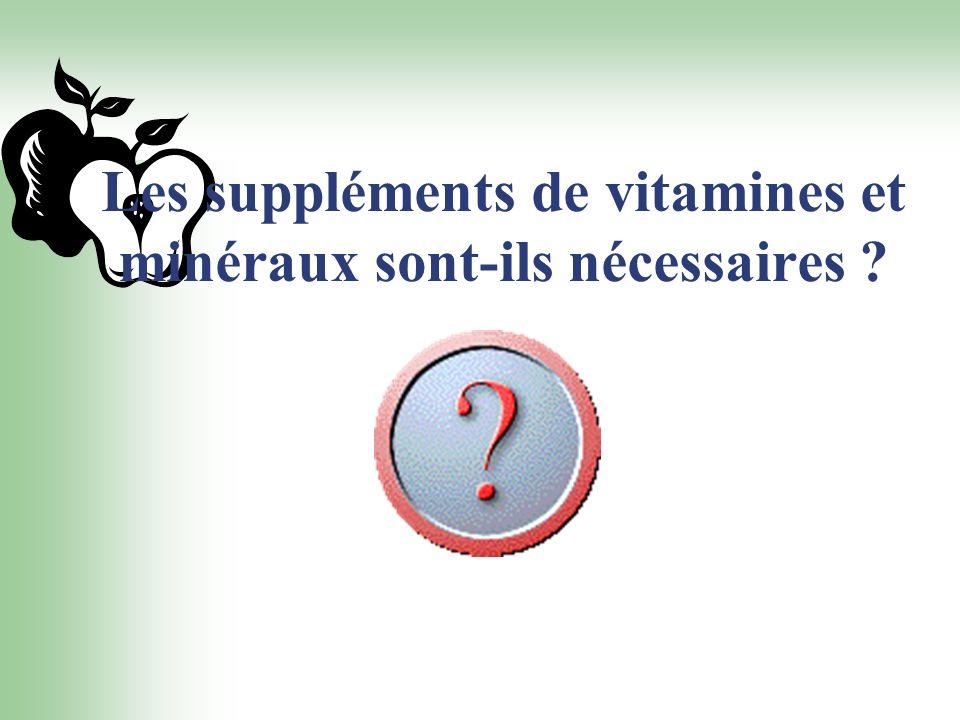 Les suppléments de vitamines et minéraux sont-ils nécessaires ?