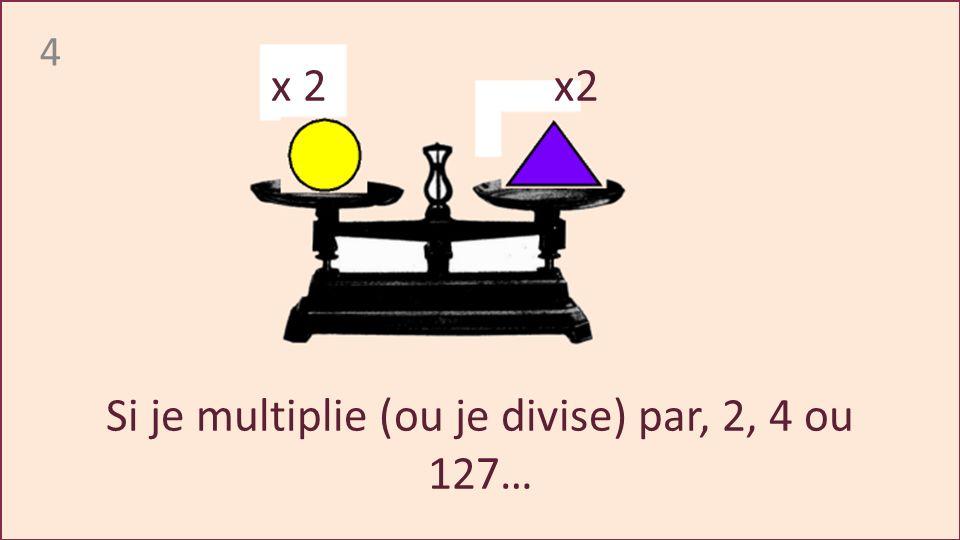 4 Si je multiplie (ou je divise) par, 2, 4 ou 127… x 2 x2