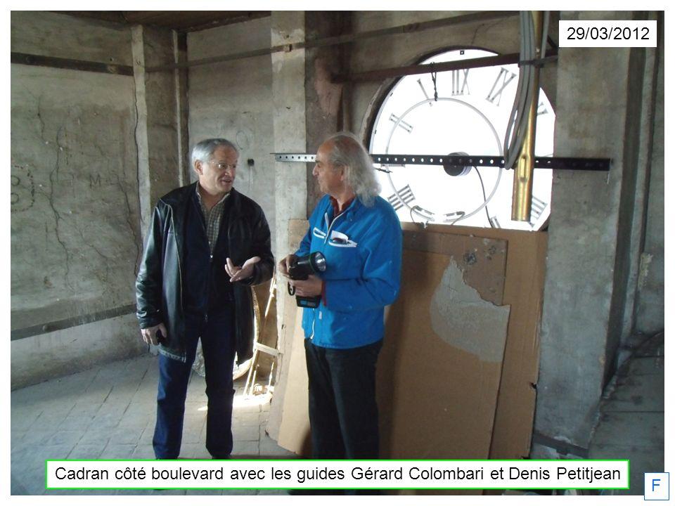29/03/2012 F Cadran côté boulevard avec les guides Gérard Colombari et Denis Petitjean