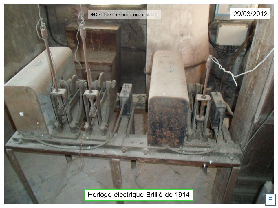 29/03/2012 F Horloge électrique Brillié de 1914 Ce fil de fer sonne une cloche