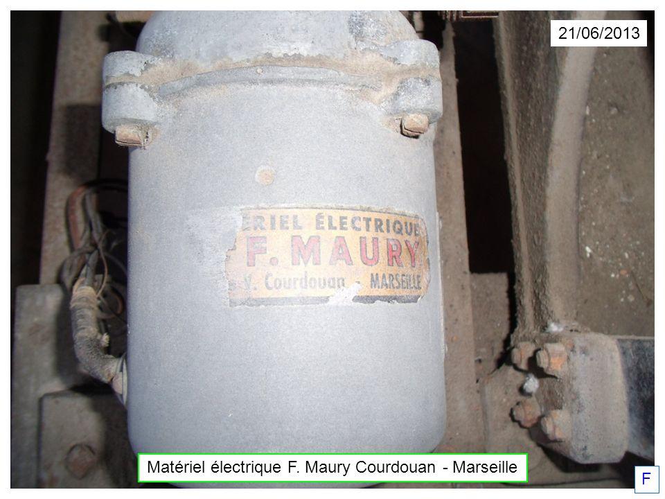 21/06/2013 Matériel électrique F. Maury Courdouan - Marseille F