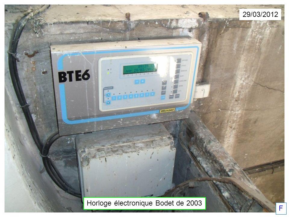 29/03/2012 Horloge électronique Bodet de 2003 F