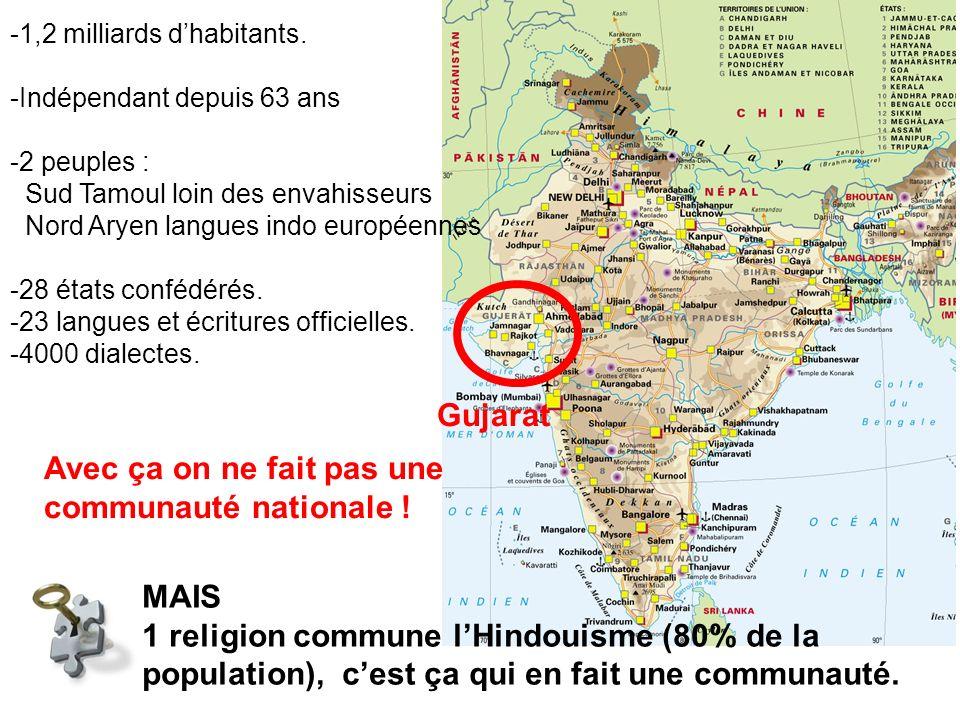 MAIS 1 religion commune lHindouisme (80% de la population), cest ça qui en fait une communauté.