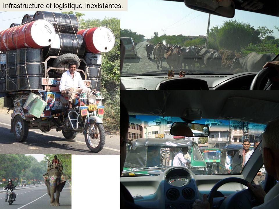 Infrastructure et logistique inexistantes.