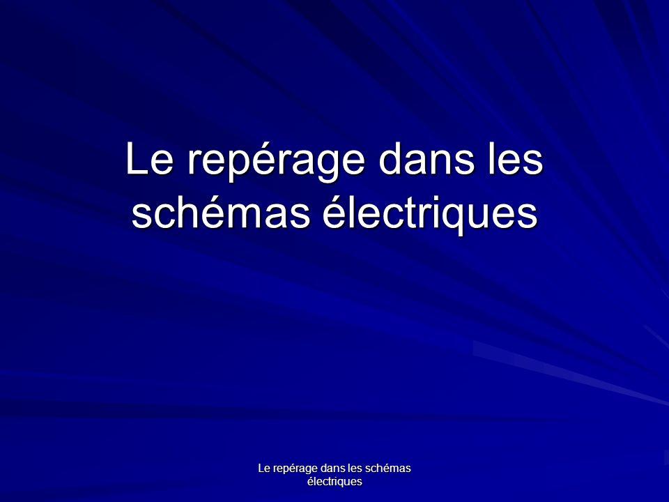Le repérage dans les schémas électriques