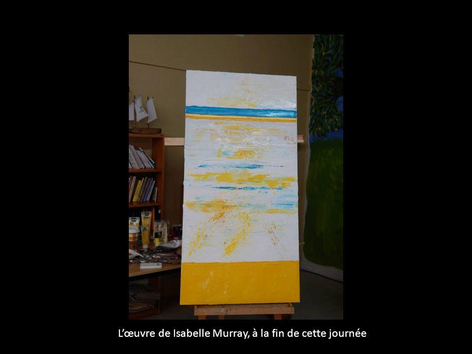 Lœuvre de Isabelle Murray, à la fin de cette journée