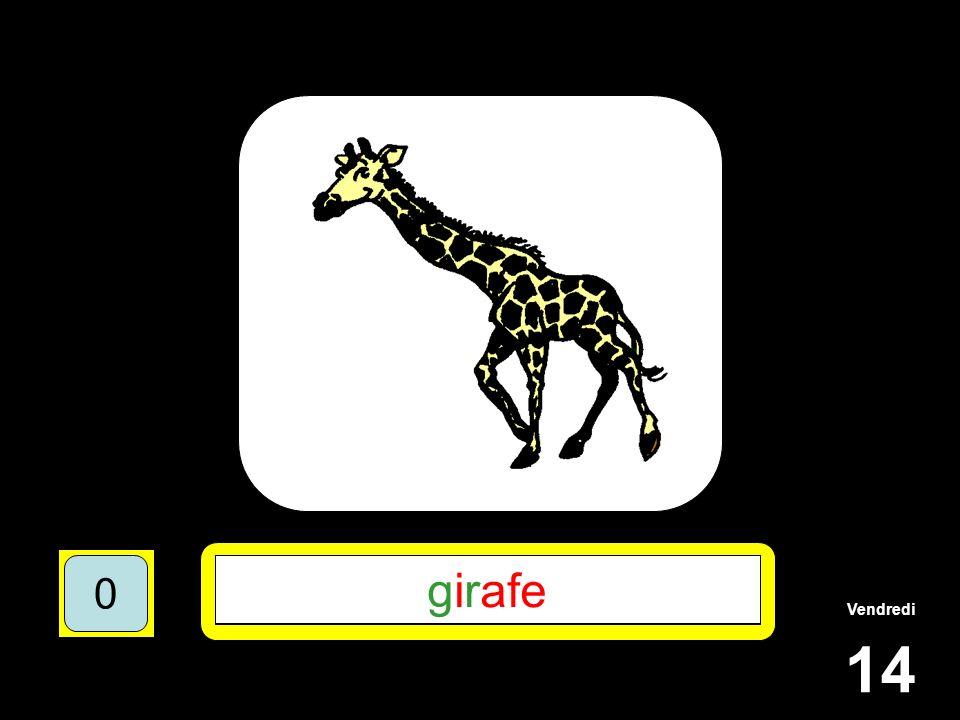 Vendredi 14 1510515 ****** 15105 G*R*** 151055 GIRAFE 151050 girafe 151050