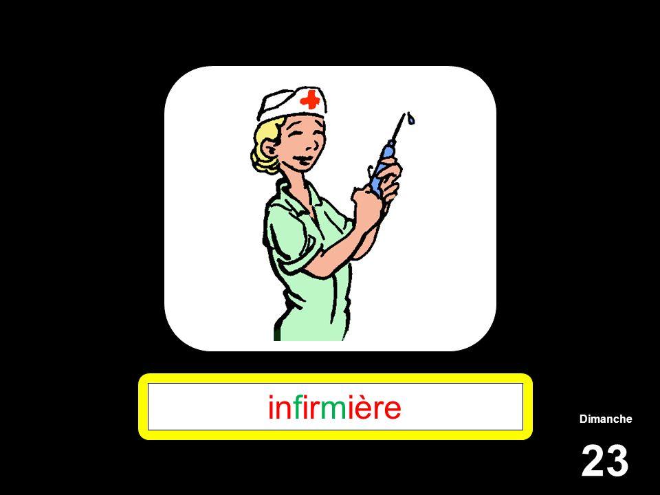 Dimanche 23 infirmière